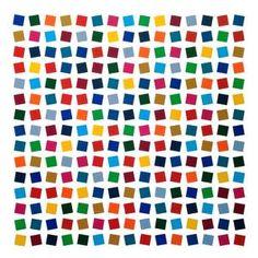 Cuadrados Opticos en Colores sobre Blanco