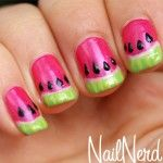 Watermelon Nails-- @Dani Schurhammer