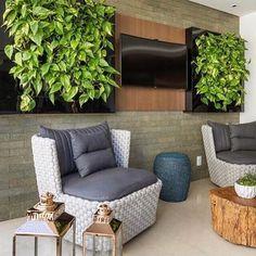 Varandinha com muito verde e com a linha Capadócia 🌳🌳🌳projeto Patricia Pasquini !#varanda#verde#capadocia#verao