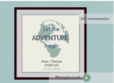 Wedding cross stitch pattern, let the adventure begin, customizable, modern pattern, wedding anniversary PDF, DIY ** instant download**