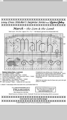 The Lion and the Lamb - March #03 Design By: Erica Michaels