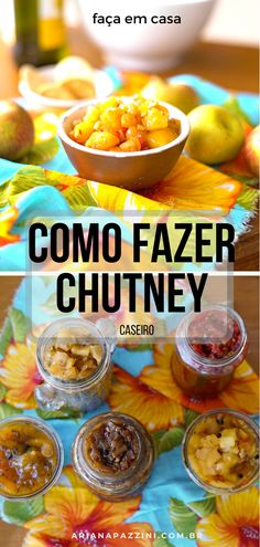 Como fazer chutney caseiro - Source by paquisan Curry Recipes, Gourmet Recipes, Vegan Recipes, Passion Fruit Sorbet, South African Recipes, Ethnic Recipes, Salted Caramel Fudge, Salted Caramels, Chutney Recipes