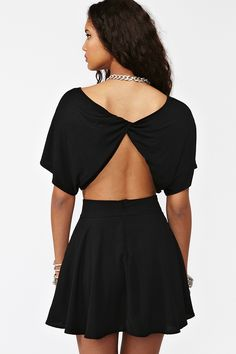 Twisted Crop Top - Black