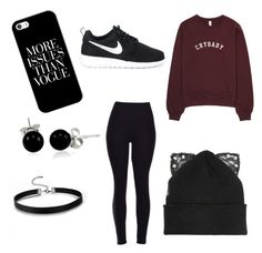VOGUE ♠️ by nyahs15 on Polyvore featuring polyvore, NIKE, Bling Jewelry, Silver Spoon Attire, Casetify, fashion, style and clothing