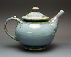 Handmade stoneware teapot 4 cup plus blue tea pot 2091