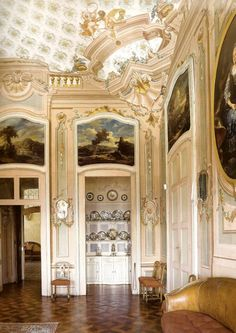 Italian Rococo: The dining room of the Castle of Guarene