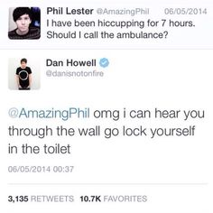 Dan is not on fire • Amazing Phil<<<a) it is Daniel Howell and B) itsdanisnotonfire