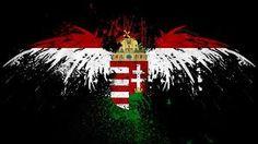 Hungarian flag and Turul bird.                                                                                                                                                     More