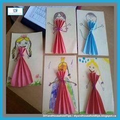 DIY And Household Tips: Paper Doll Princesses ~ Kids Crafts Paper Doll Craft, Doll Crafts, Paper Dolls, Diy And Crafts, Crafts For Kids, Arts And Crafts, Paper Crafts, Easy Crafts, Princess Crafts