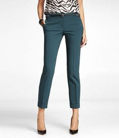 Express Editor Ankle pants - Just got these. I like the printed top with it!