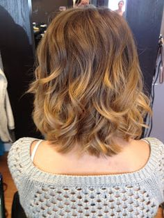 Short ombre with beach waves. #HairByKimberly blog post.