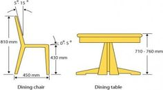 New Kitchen Table High Dining Chairs Ideas - Food: Veggie tables Dining Table Height, Dining Table Dimensions, Diy Dining Table, Dining Room Chairs, Table And Chairs, Dining Rooms, Navy Chairs, Lounge Chairs, Pallet Furniture Chairs