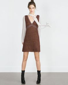 Image 1 of MICRO-JACQUARD DRESS from Zara