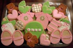 Baby Girl shower flying-pig-party-cookies