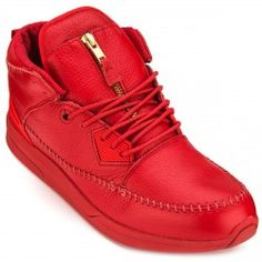 Diamond Supply Co. Native Trek Shoes - Red Leather