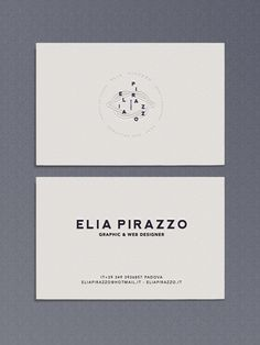 Elia Identity by Elia Pirazzo, via Behance