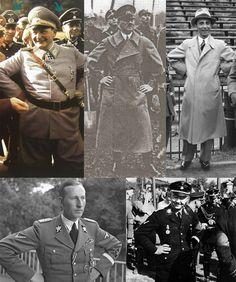 Top Nazi leaders; Hermann Göring, Adolf Hitler, Joseph Goebbels, Heinrich Himmler and Reinhard Heydrich