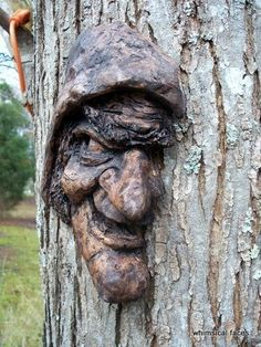 Faces Carved Into Trees Is A Mystifying Spectacle - FAIL Blog - Funny Fails Wood Sculpture, Sculptures, Tree People, Tree Faces, Baba Yaga, Tree Carving, Wicked Witch, Scary Witch, Witch Face