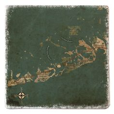 Custom vintage style maps Key West. Choose any location in the world!