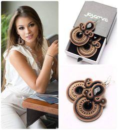 Kolczyki z kolekcji ELEGANT #jasamira #sutasz #soutache #projektantkabizuterii #projektantka #fashion #earrings #jewelery #kobietazklasą…