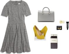 """""""Pop of yellow"""" by sydneydeleonofficial ❤ liked on Polyvore"""