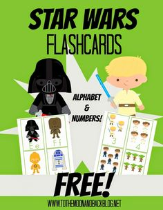 Star Wars Alphabet  Numbers Flash Cards - Frugal Homeschool Family
