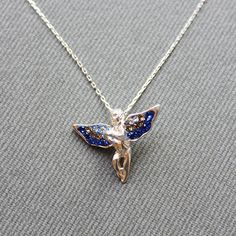 Sterling Silver Angel Necklace  Angel Charm by LibertaFashion, $22.50