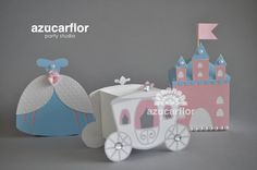 AZUCAR FLOR party studio: Envases para mesa de Cenicienta