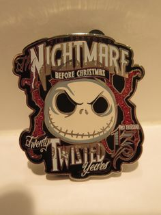 Disney Pin D23 EXPO 2013 Nightmare Before Christmas Jack 20th Anniversary