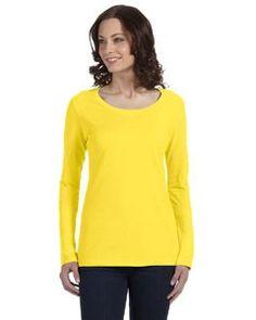 Anvil Ladies' Ringspun Sheer Long-Sleeve Featherweight T-Shirt 399