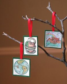 New family tradition for us.Jesse tree-Ann Voskamp's free nightly reading and ornaments for the Advent season. Advent Activities, Christmas Activities, Christmas Traditions, Christmas Crafts, Christmas Decorations, Christmas Ornaments, Christmas Ideas, Holiday Decorating, Holiday Ideas