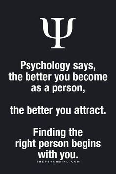 Sexual Attraction - psychology says, the better you become as a person, the better you attract. finding the right person begins with you. - 3 Easy Techniques To Create Sexual Attraction… Psychology Fun Facts, Psychology Says, Psychology Quotes, Interesting Psychology Facts, Relationship Psychology, Psychology Careers, Health Psychology, Dating Relationship, Color Psychology