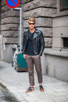 Oshawa Centre Fashion Inspiration. Men's fashion, leather jacket,