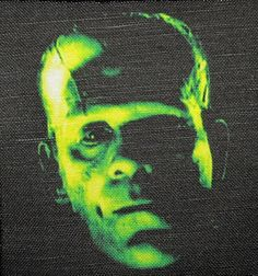 Your place to buy and sell all things handmade Boris Karloff Frankenstein, Frankenstein's Monster, Black Thread, Vest, Jacket, Sew On Patches, Cotton Canvas, Backpack, Sewing