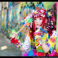 Photo by Dale L✨ #decara #decorafashion #Harajuku #harajukustyle #jfashion #colorful #pop #popkei #accessories #kawaii #kawaiiclothes #portrait