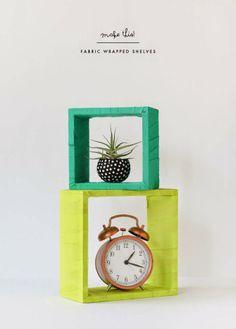 Poppytalk: DIY | Fabric Wrapped Shelves