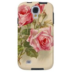 Vintage Pink Roses phone cover from Zazzle | I got this for my iPhone 5s... LOVE it!