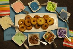 Hanukkah donut bar. Fun idea!
