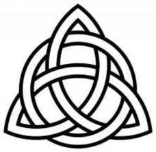 An ancient Celtic symbol, the triquetra is considered one of the oldest; dating back to as early as 500 BC when it was used to symbolize the triple goddess (maiden-mother-crone). Also happens to be the most popular pin I have! :)