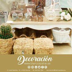 ¡¿Os gustan los #Captus, las #CestasdeMimbre, los muebles que reflejen tu estilo....?! Es tiempo para #decorar con #BlancoAzahar #Decoración