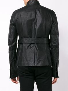 Rick Owens Leather Army Jacket