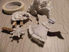 'Kerstknijpers' maken met wattenstaafjes
