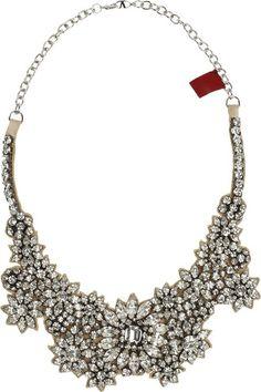 #Valentino Jewel Flowers Swarovski Crystal Necklace - Divine www.finditforweddings.com