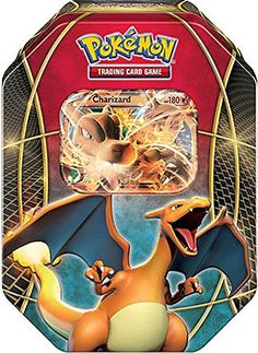 Charizard EX Tin Box Pokemon TCG with 4 Booster Packs Trading Card Game - FAST! in Toys & Hobbies, Collectible Card Games, Pokémon Trading Card Game, Pokémon Individual Cards Pokemon Tins, Pokemon Card Packs, Rare Pokemon Cards, Pokemon Trading Card, Trading Cards, Pokemon Stuff, Pokemon Charizard, Pikachu, Pokemon Go Images