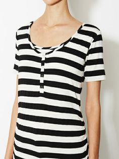 Ruched Short Sleeve Snap Tee by NOM at Gilt  maternity/nursing