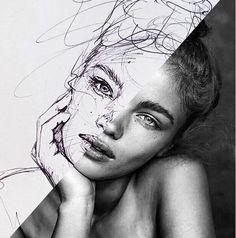 Antoine Stevens Self Image, Various Artists, Drawing Ideas, Artworks, Art Photography, Sketch, Faces, Portraits, Ink