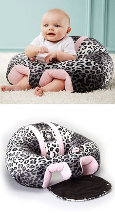 Hugaboo Plush Baby Support Seat // Allows Hands Free Time for Mom & Helps Baby to Learn How to Sit! #brilliant