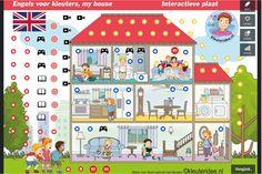 New: Interactive image for kindergarten English lessons for IBW and digiboard / Nieuw: Interactieve platen om Engels aan kleuters te leren. De platen bevatten liedjes, spelletjes, verhalen, filmpjes en interactieve lessen per onderwerp. Nu al verschenen zijn: Colours and My house