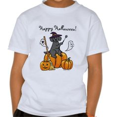 Cute Halloween Black Labrador Cartoon Tshirt for kids!  #Halloween #BlackLabrador #LabradorRetriever #cartoon