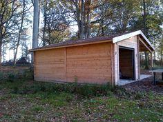 garage bois avec appentis bois sur mesure  voir le site  #garagebois